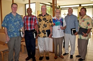 choir members with colorful shirts